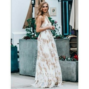 Luxxel Tulle Floral Maxi Dress